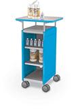 Compass Mini H2 Cabinet w-Laminate Top No Door Shelves Sanitation Station Angle 1 - blue