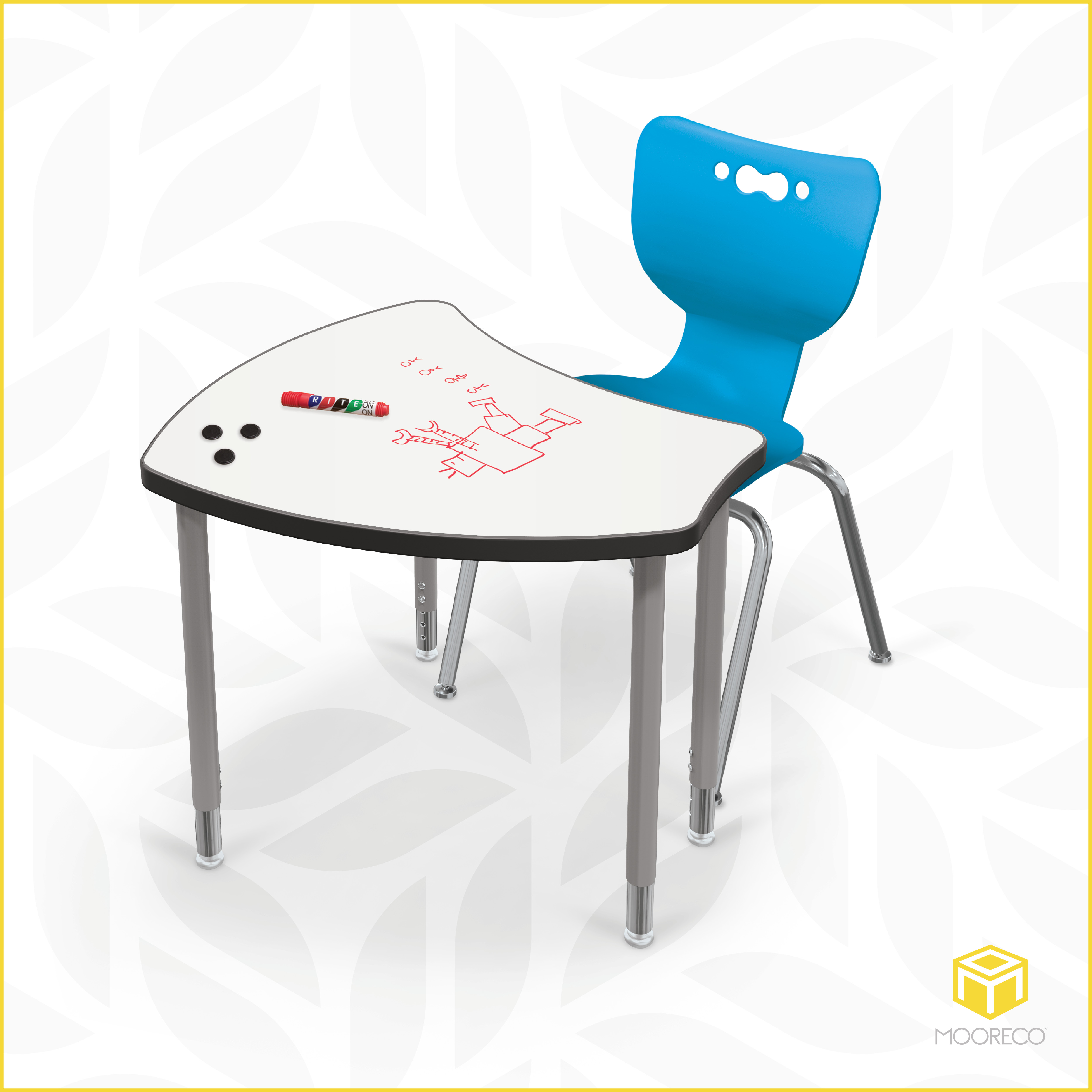 2020-10 Hierarchy Shapes Desk with Porcelain Steel Top-ad product (chair) facebook and instagram_v1-hi