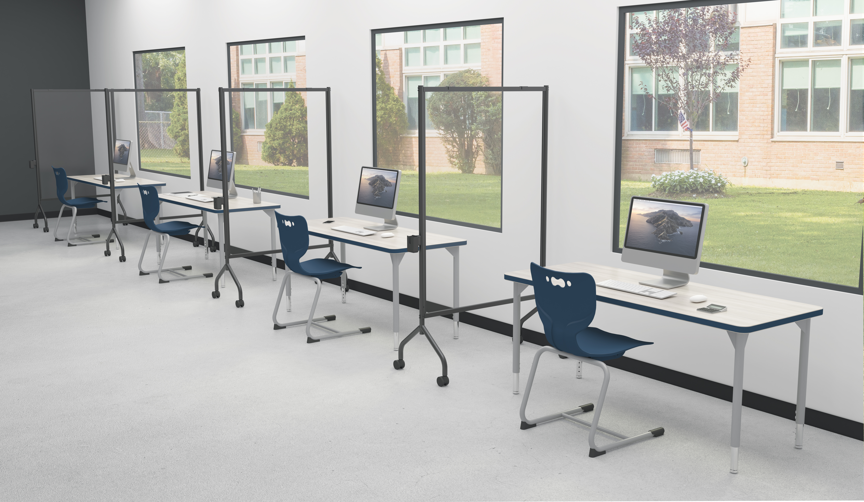 Essentials Classroom Clear Mobile Board