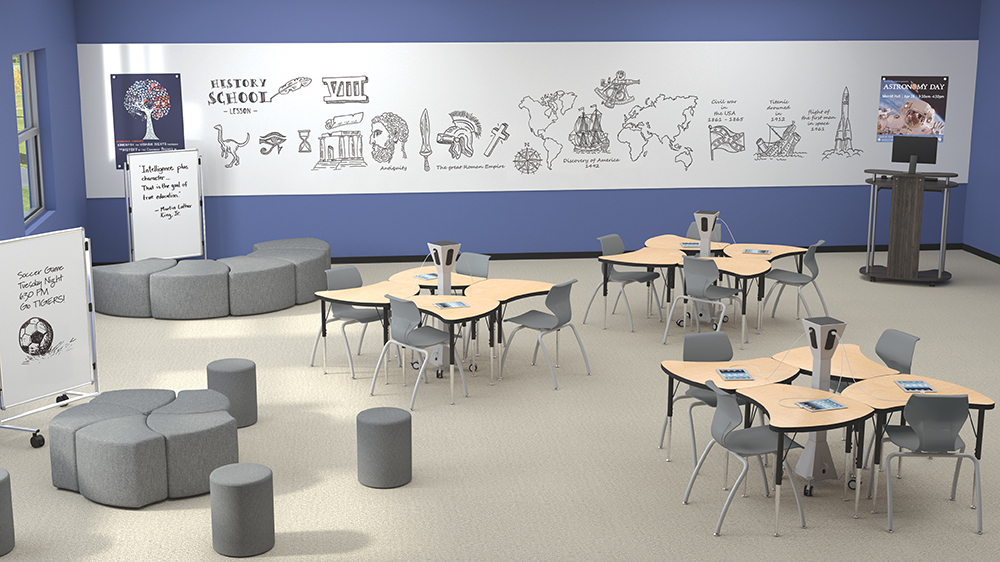 Essentials Economy Soft Seating Economy Shapes Classroom w-Airley Chairs