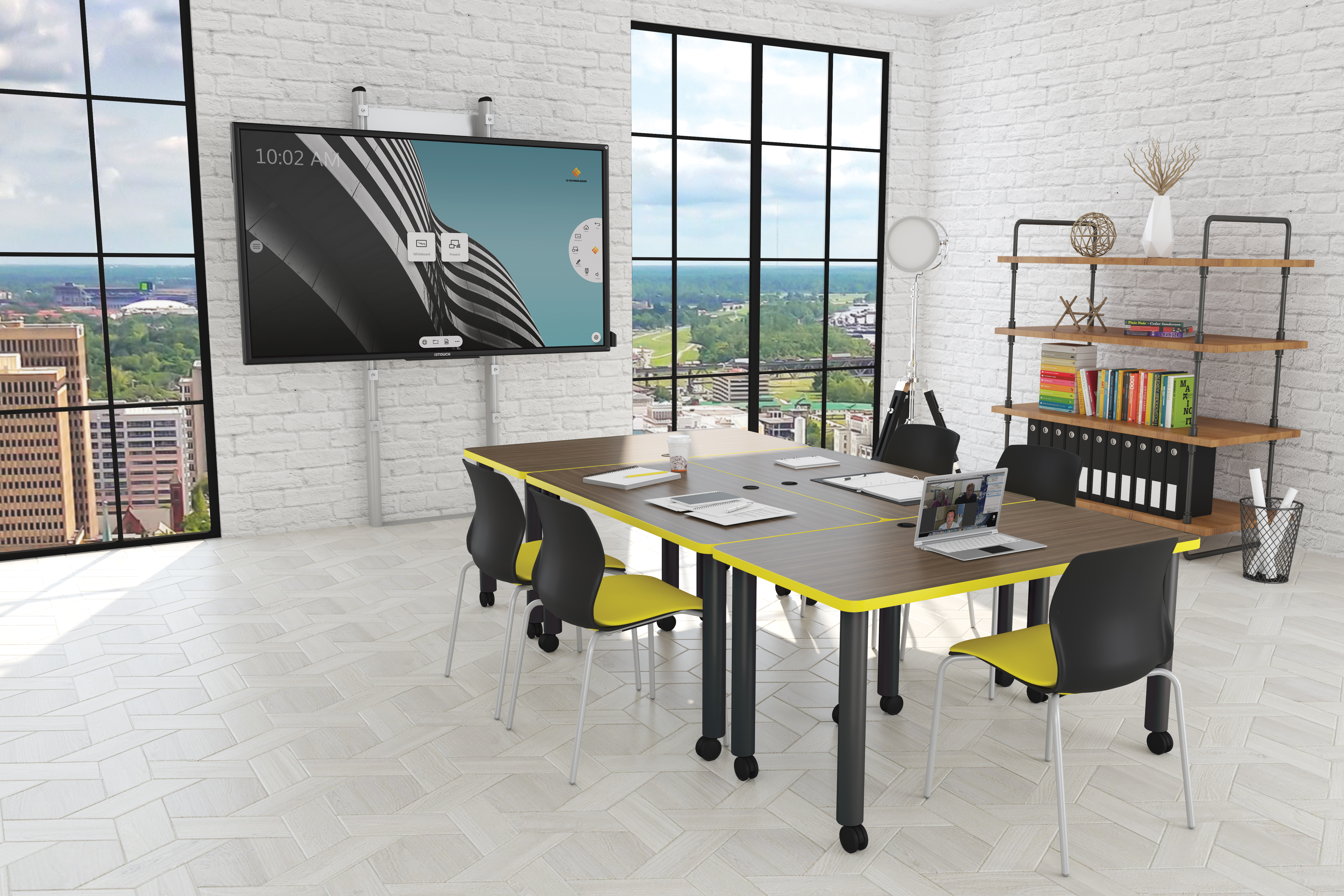 i3-work Conference Room w-Elevation Floor Mount Environment-1