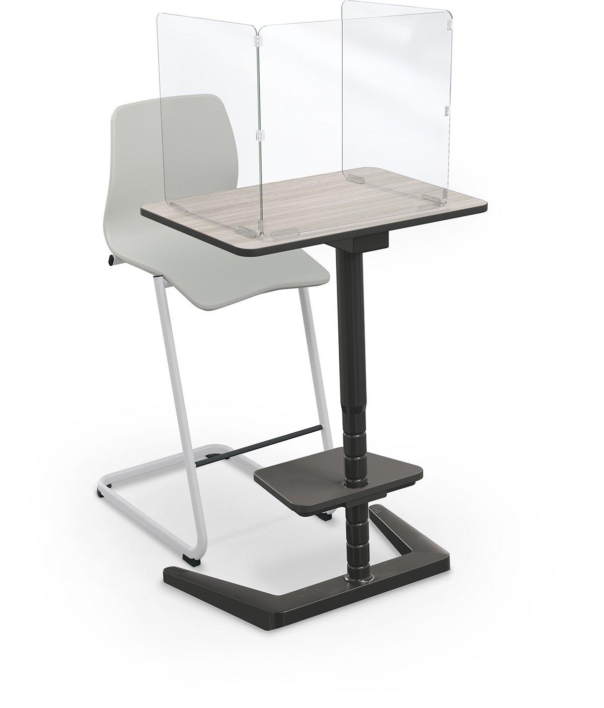 opti desk rectangle tall 3-4 angle w-opti chair tall master