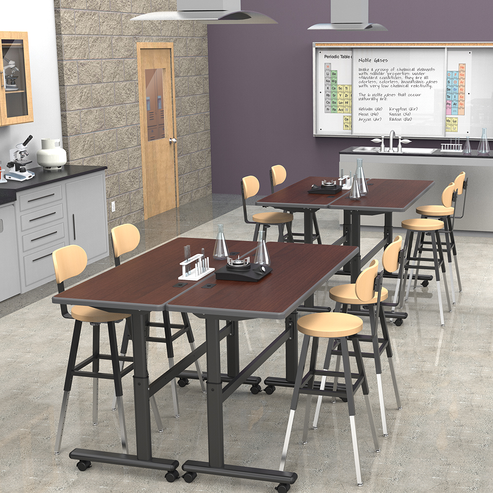height adjustable flipper classroom