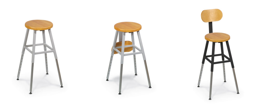 lab stool no back
